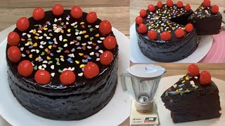 Super Moist Birthday Cake in Blender - Chocolate Cake Without Oven