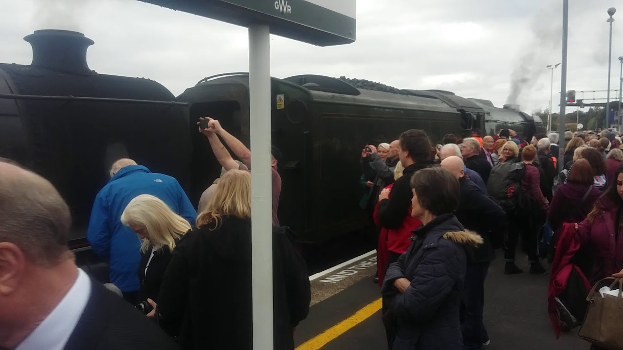 Flying Scotsman At Exeter St Davids Monday 8th October 2018 Youtube