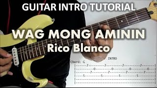 "Check out my tutorial on how to play the guitar intro on the song ""..."