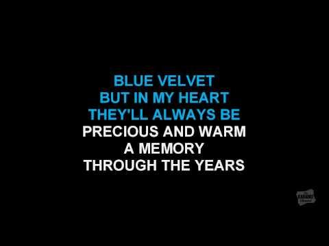 Blue Velvet in the style of Bobby Vinton karaoke version with lyrics