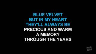 Blue Velvet in the style of Bobby Vinton karaoke version with lyrics