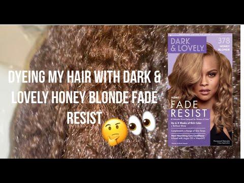 Dyeing My Hair Honey Blonde With Dark & Lovely Fade Resist