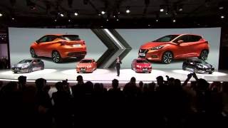 All-new Nissan Micra Gen5 unveiled at the Paris Motor Show 2016(The All-new Nissan Micra Gen5 was unveiled at the Paris Motor Show, with CEO Mr Carlos Ghosn making the opening speech. With a revolutionary new style ..., 2016-09-29T08:56:01.000Z)