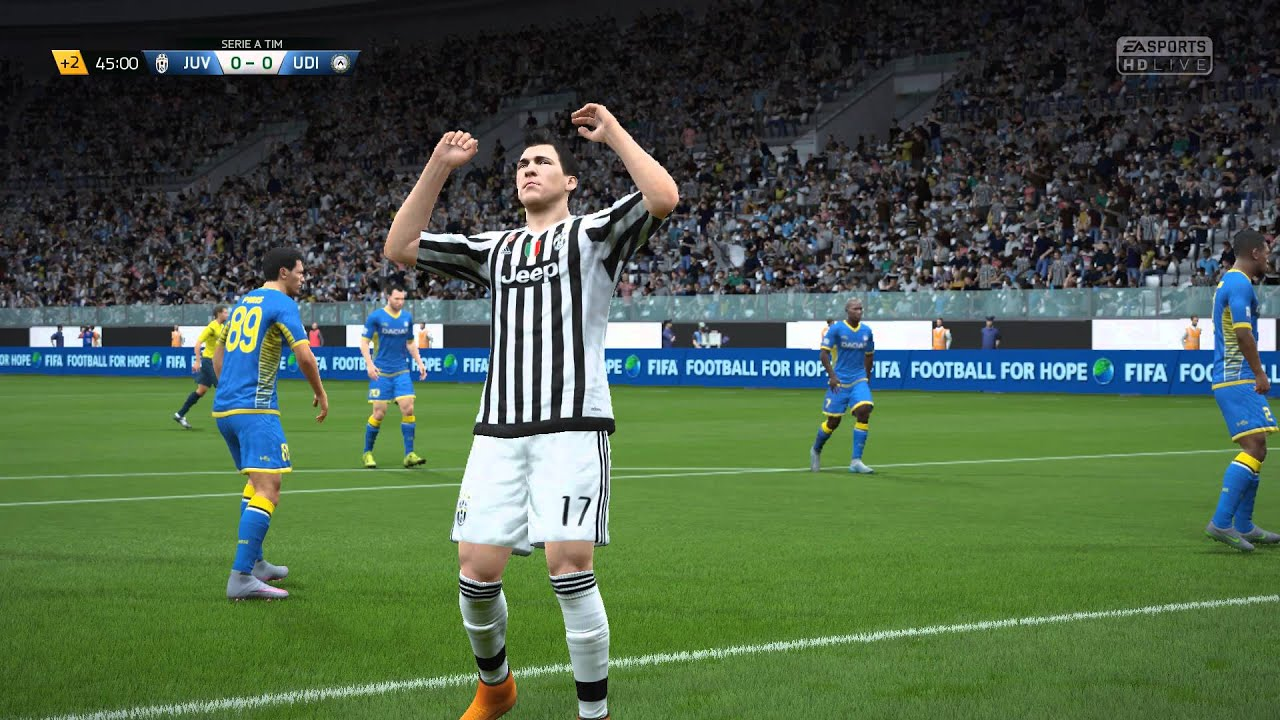 Fifa 16 Juventus Vs Udinese Serie A Youtube