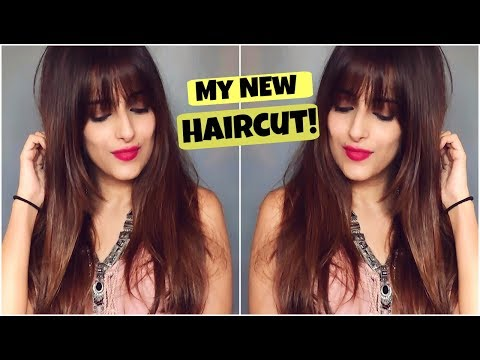 New Haircut With Fringes & Long Layers Step by Step Tutorial