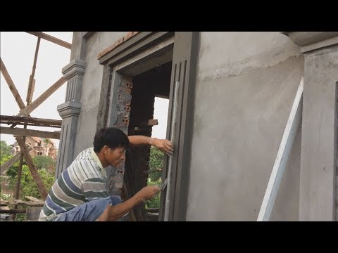 Construction   Beautiful Windows - Rendering Sand and Cement - great building tips