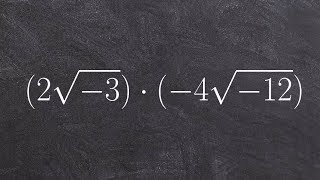 Multiplying radicals as aฑ imaginary numbers