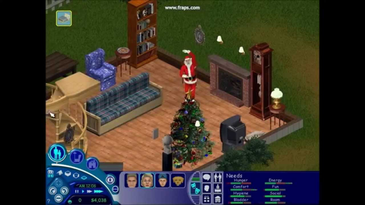 the sims 1 santa youtube. Black Bedroom Furniture Sets. Home Design Ideas