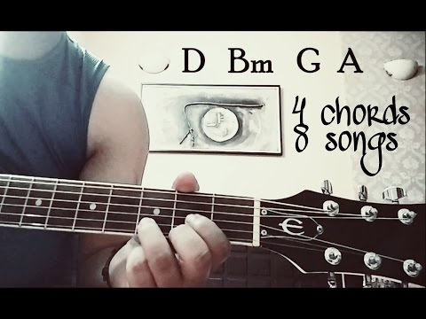 Play 8 bollywood songs using 4 NEW chords ( D..Bm..G..A )