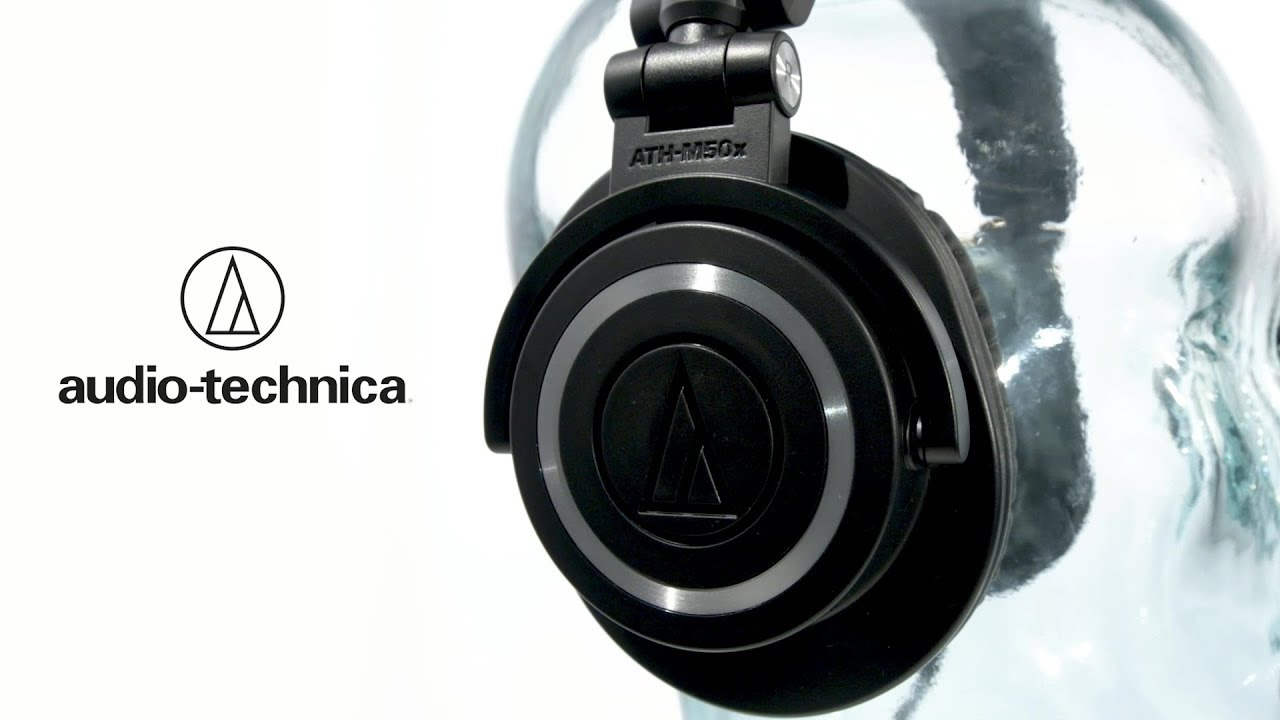 Audio Technica Ath M50x Professional Monitor Headphones Black M40x Monitoring Headphone Gear4music