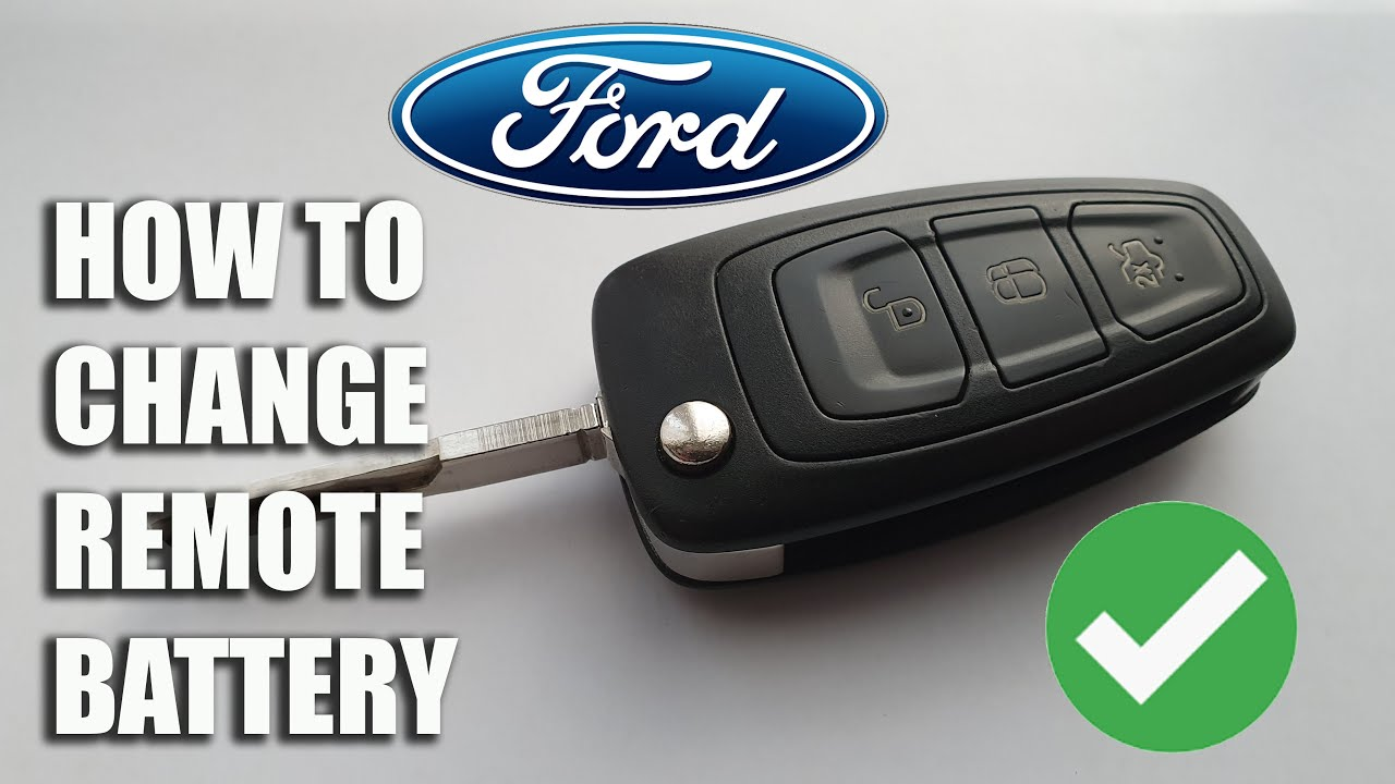 How To Replace A Battery On A Ford Key Fob Remote Youtube