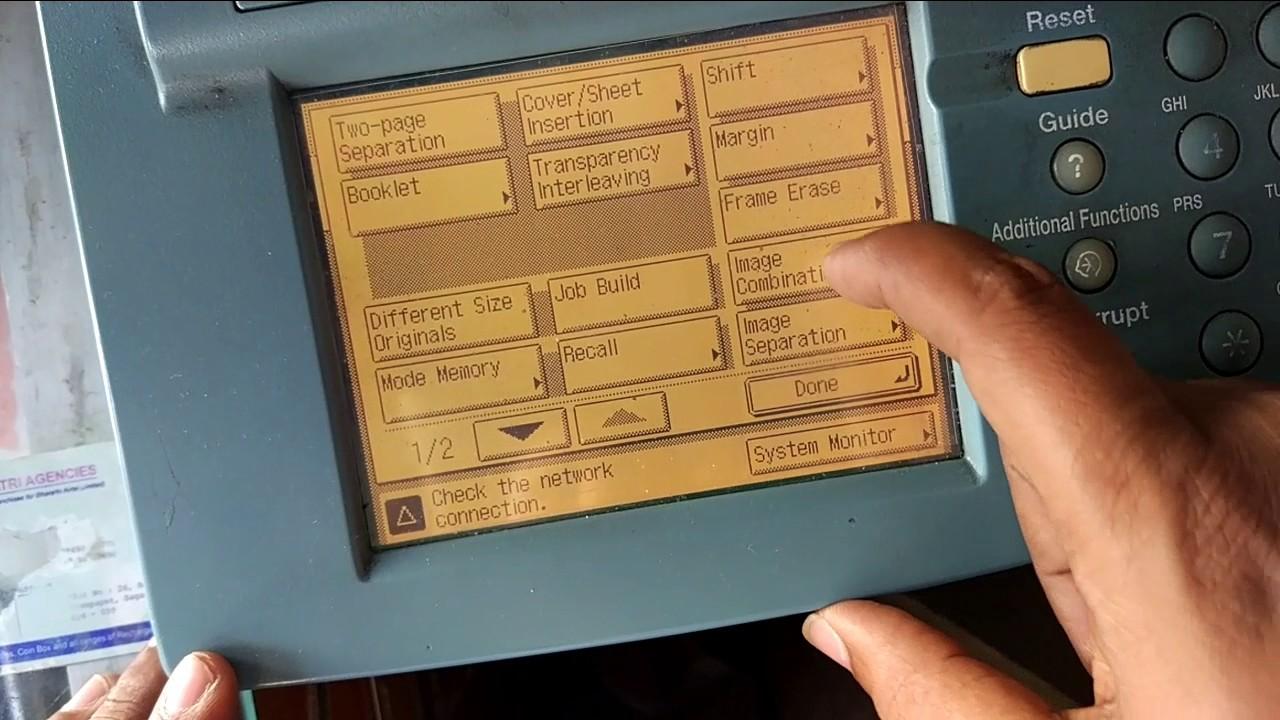 Micro Xerox In Canon Xerox Printer Youtube