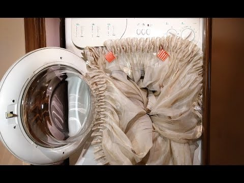 Experiment - Curtain - in a Washing Machine - Centrifuge
