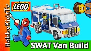 LEGO City Police Museum Break-in 60008 SWAT Van Build Emmet and Spider-Man HobbyKidsTV