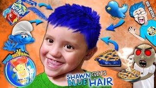 Download lagu SHAWN gets BLUE HAIR Song Cool Surprise