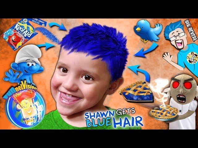 SHAWN gets BLUE HAIR Song