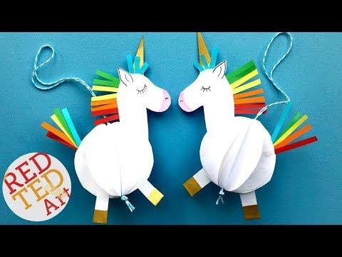 Easy Unicorn DIY Decor - Paper DIYs - Room Decor - DIY Unicorn Ornament
