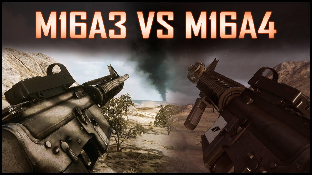 """M16A3 (BF3) Vs M16A4 (BF4) - """"Las Hermanas 16 ... M16a4 Bf3"""