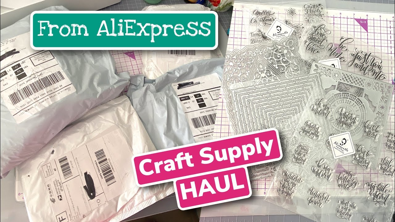 SUPER BIG Aliexpress HAUL Unpacking Orders Cutting Dies and Stamps Craft Supply Interesting Items
