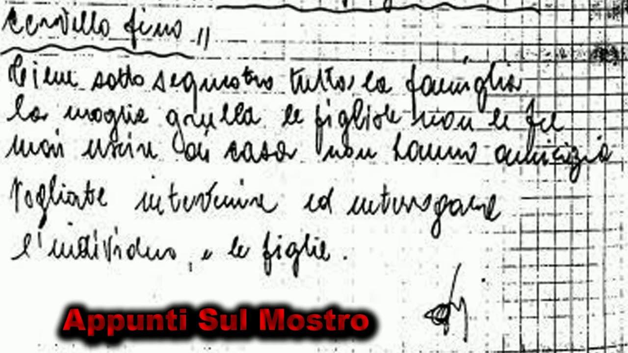 MOSTRO DI FIRENZE - il nome Pacciani esce prima della lettera ...