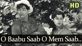 O Babu O Memsaab (HD) - Talaq Songs - Rajendra Kumar - Kamini Kadam - Manna Dey - Asha