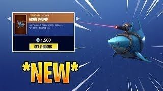 FORTNITE LASER CHOMP LEGENDARY SHARK GLIDER SEULEMENT 1500 V-BUCKS! NOUVEAU DIVER SKINS ET PICKAXE!!
