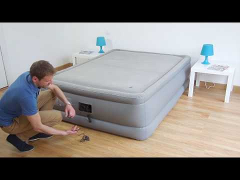 Matelas Gonflable électrique Intex Foam Top Bed Fiber Tech 2 Places - 64468