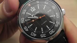 Обзор часов Восток Амфибия Компрессор 2018 дизайн 2 на ремне.