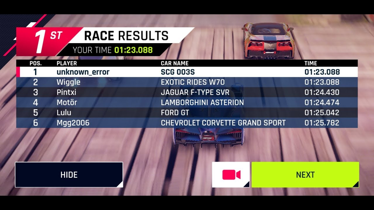 CLOSEST ASPHALT 9 RACE EVER (BOTH SAME MILLISECOND)
