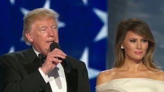President Trump arrives and speaks at Freedom Ball