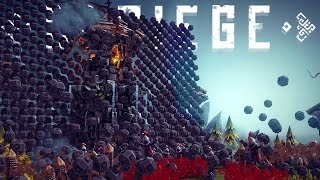 Besiege Best Creations - Wall of TERROR! 6 Wheeled Monster Truck & More!