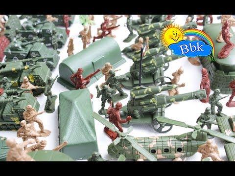 Домашние сражения игрушек ↑ Военные солдатики немецкой армии, новый набор ↑ Обзор игрушек