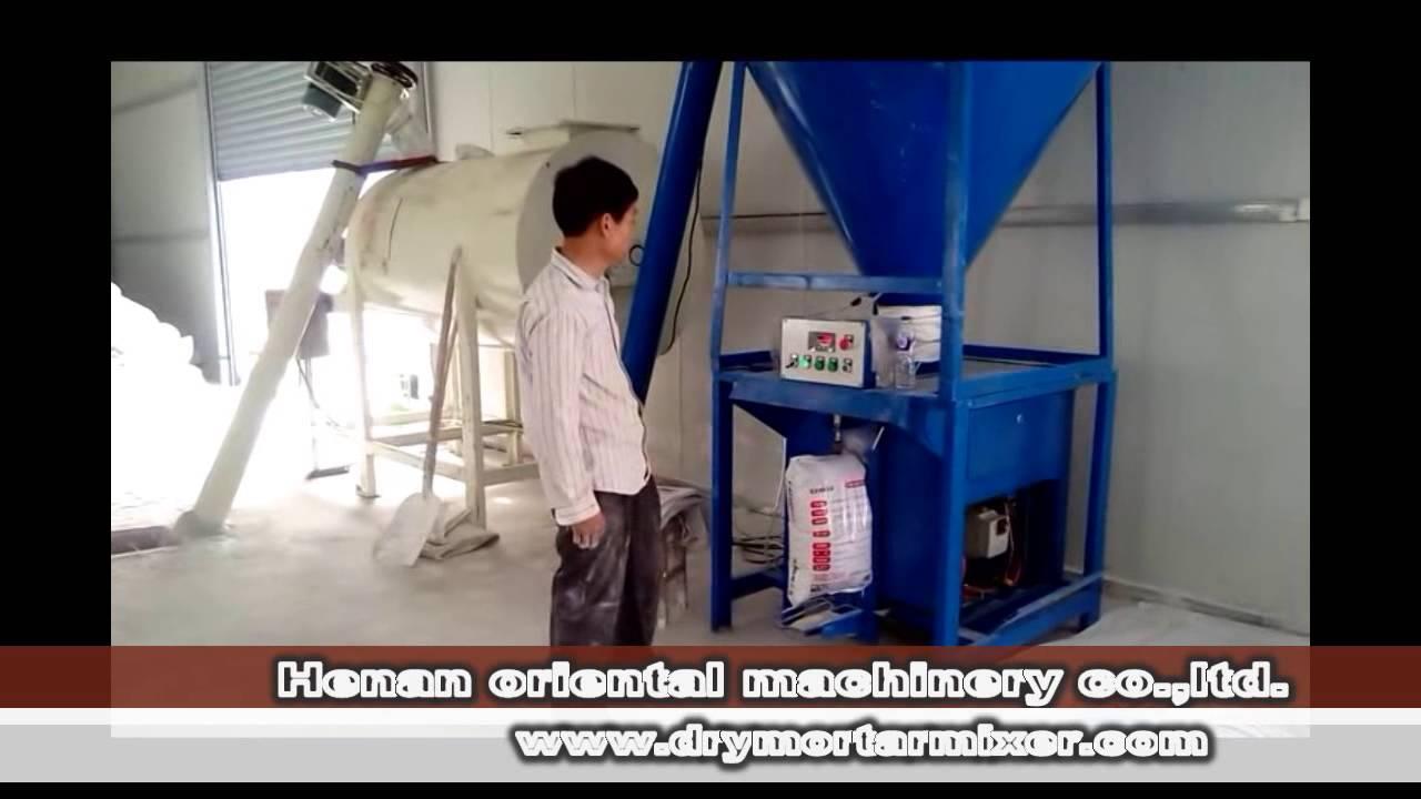 1 5ton Dry Mortar Plant Powder Mix Machine Video Youtube