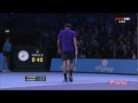 Roger Federer vs Andy Murray - ATP World Tour Finals Semifinals 2012 Highlights (HD)