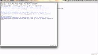Basics of Python - how to make a temperature converter