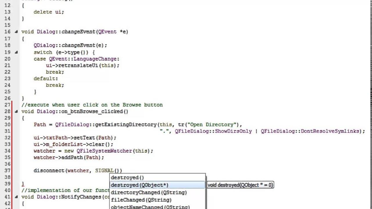 Qt Folder Monitor