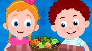 Vegetable Song   Schoolies Nursery Rhymes For Children   Cartoon Videos For Kids