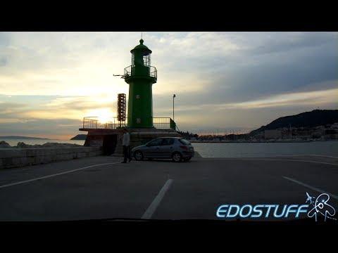 Croatia Driving Time Lapse - From Šibenik to Split HD