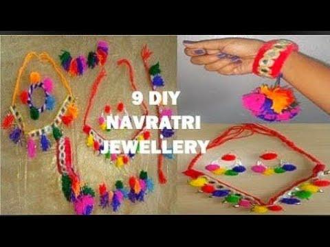 9 DIY NAVRATRI JEWELLERY- EASY TO MAKE AT HOME