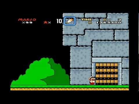 [HD] Super Mario World - Bowser's Castle (Front Door, fastest/easiest way) Final Battle! [TAS]