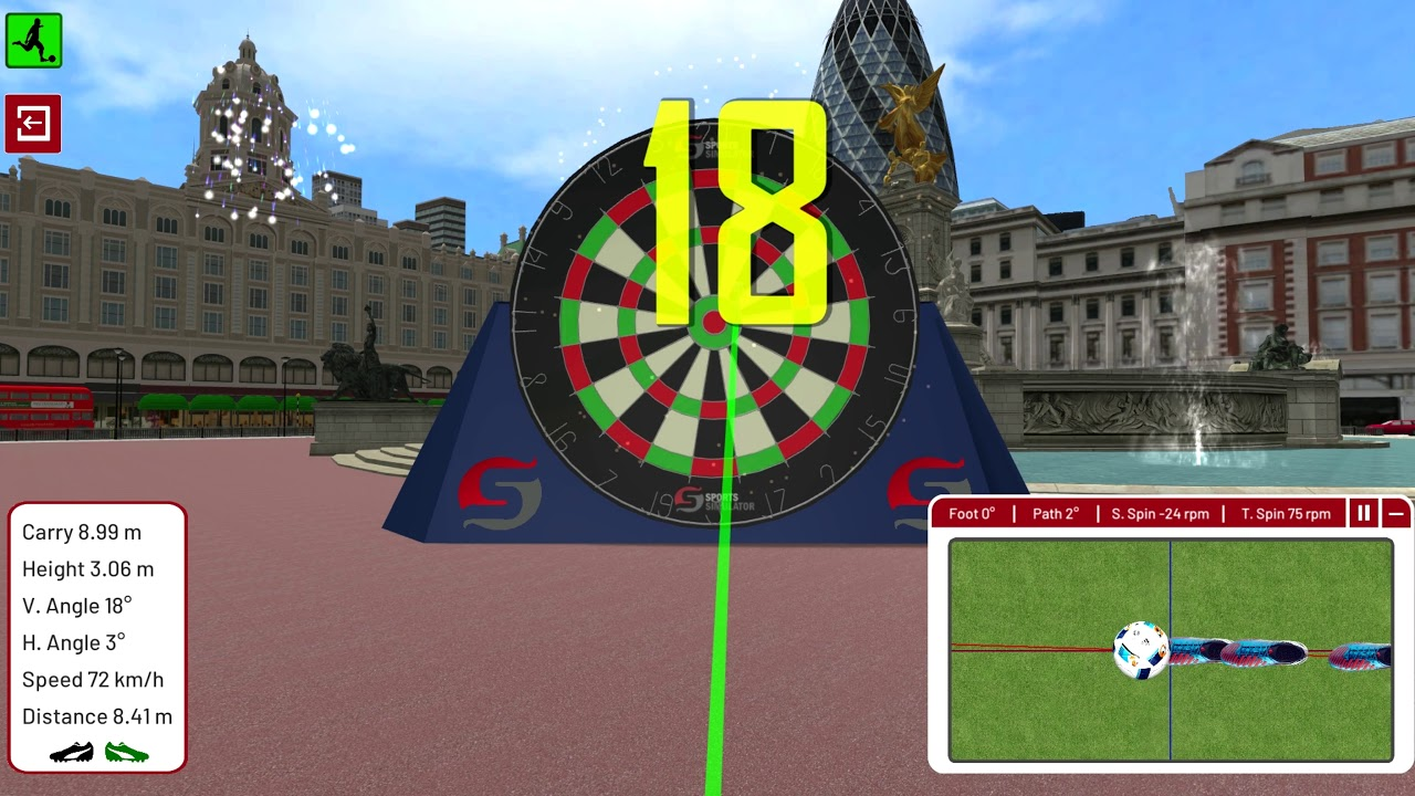 Football Environment - London - Dartboard Challenge