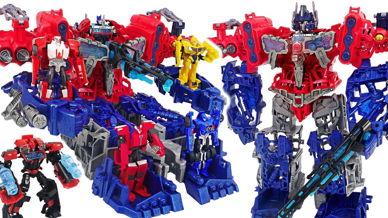 Transformers Prime Cyberverse Optimus Maximus Transformed Into Battleship Dudupoptoy