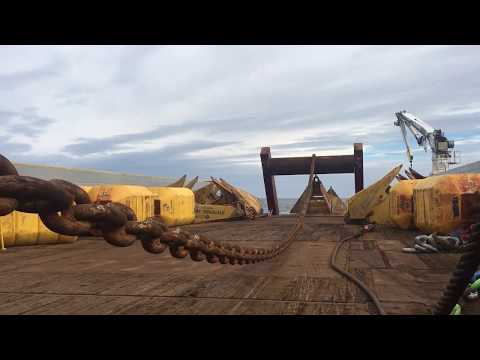World's largest anchor handler Skandi Vega Pre-lay Mooring lines! AHTS Vessel