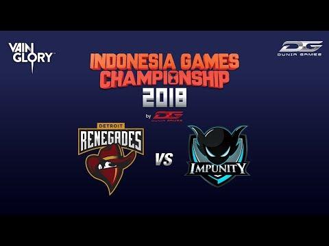 RENEGADES vs IMPUNITY I VAINGLORY I FINAL I #IGC2018byDUNIAGAMES