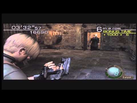 Resident Evil 4: Merc Mode 5 Star guide: Leon - Castle.