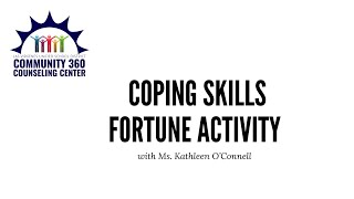 Coping Skills Fortune Activity