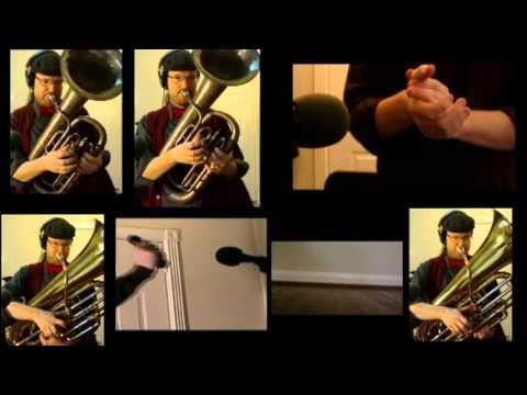 "OutKast ""Hey Ya"" cover for Tuba Quartet + sheet music"