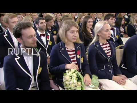 Russia: Sports Minister Mutko awards Olympic medalists at the Kremlin