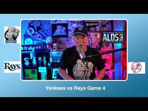 New York Yankees vs Tampa Bay Rays Free Pick 10/8/20 ALDS Game 4 Pick & Prediction MLB Picks
