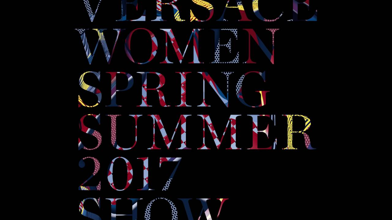 Versace Womenswear Spring Summer 2017 Show Invite